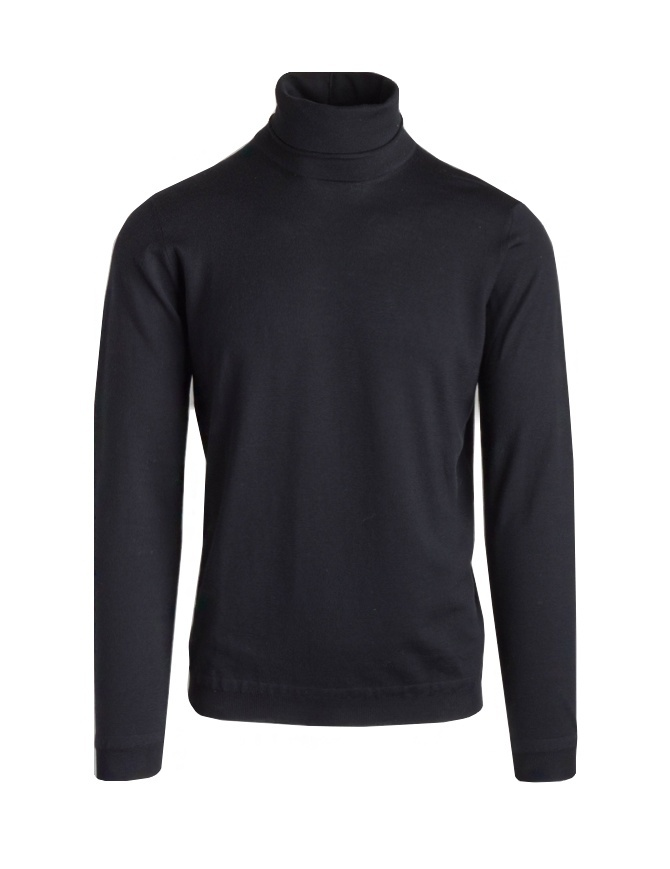 Goes Botanical black turtleneck sweater 104 NERO mens knitwear online shopping