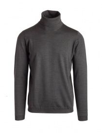 Mens knitwear online: Goes Botanical green army turtleneck sweater
