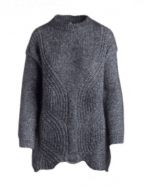 Womens knitwear online: Yasmin Naqvi silver long sweater