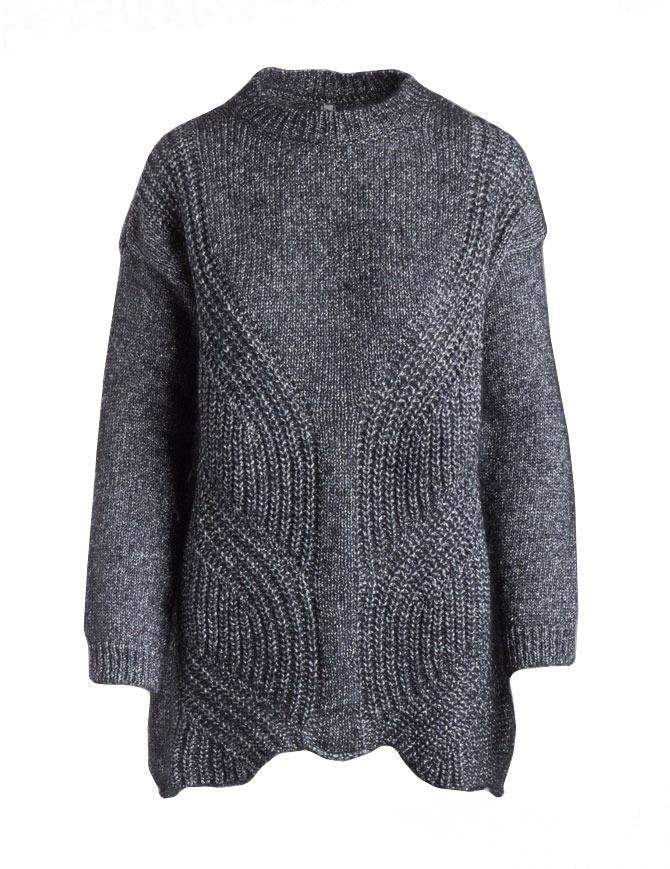 Yasmin Naqvi silver long sweater YNKD11 MAGLIA SILVER womens knitwear online shopping