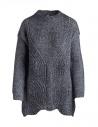 Maglione lungo Yasmin Naqvi argento acquista online YNKD11 MAGLIA SILVER