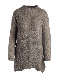 Womens knitwear online: Yasmin Naqvi gold long sweater