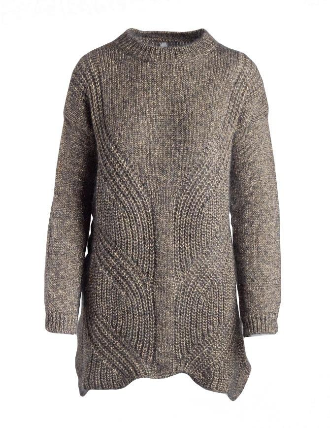 Maglione lungo Yasmin Naqvi oro YNKD11 MAGLIA GOLD maglieria donna online shopping