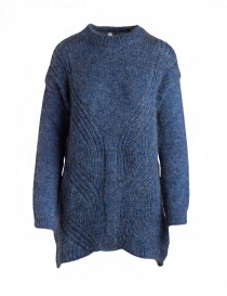 Womens knitwear online: Yasmin Naqvi blue long sweater