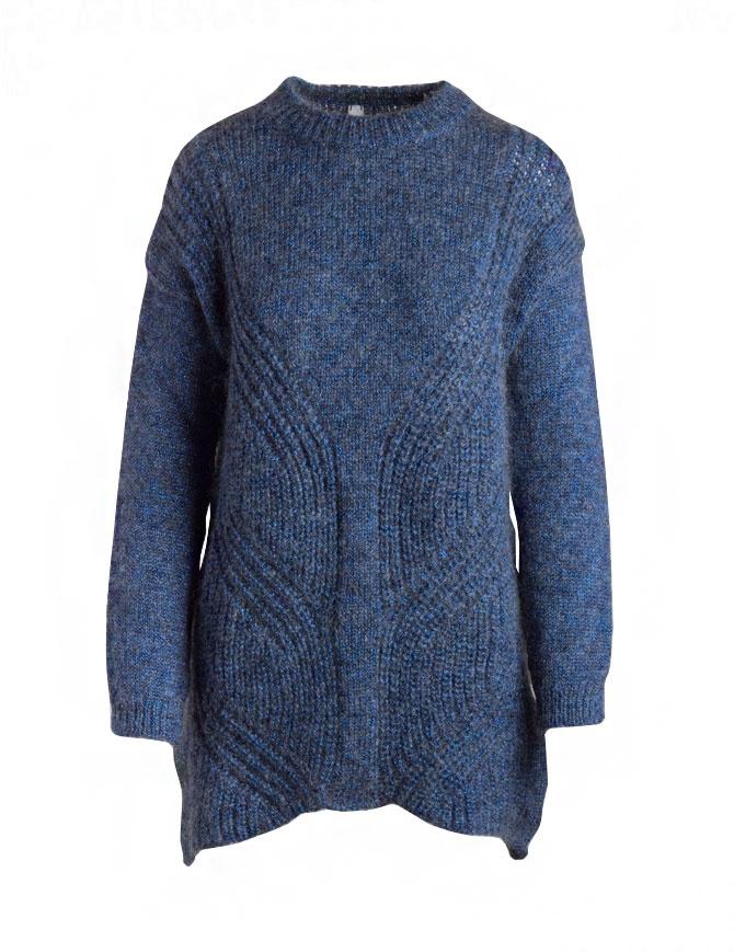 Maglione lungo Yasmin Naqvi blu YNKD11 MAGLIA BLUE maglieria donna online shopping