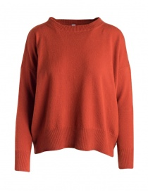 Womens knitwear online: Yasmin Naqvi orange sweater