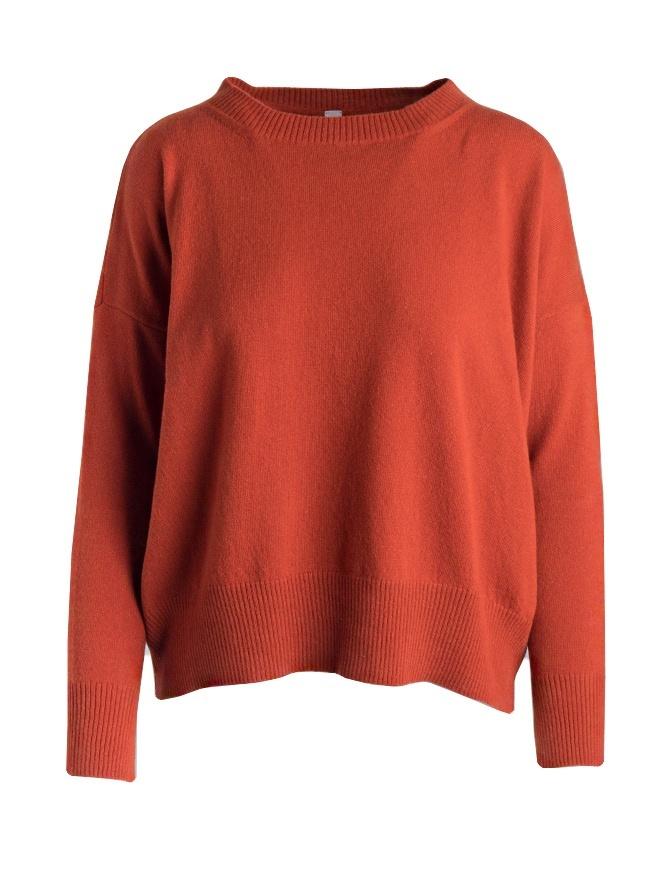 Yasmin Naqvi orange sweater YNKD16 MAGLIA RED womens knitwear online shopping