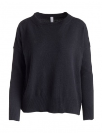 Womens knitwear online: Yasmin Naqvi black sweater