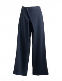 Womens trousers online: Yasmin Naqvi blue palazzo trousers