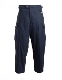 Mens trousers online: Cellar Door blue Cargo 2 trousers