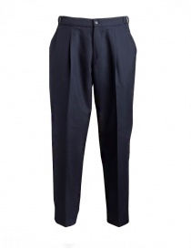 Mens trousers online: Cellar Door Leo T navy blue trousers