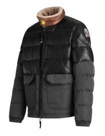 Parajumpers Bear charcoal leather down jacket buy online