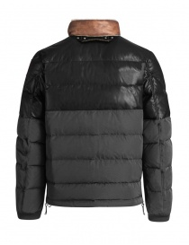 Parajumpers Bear charcoal leather down jacket price