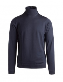 Mens knitwear online: Goes Botanical blue turtleneck sweater
