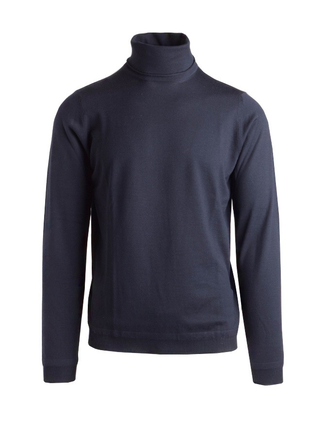 Goes Botanical blue turtleneck sweater 104 3342 BLUE mens knitwear online shopping