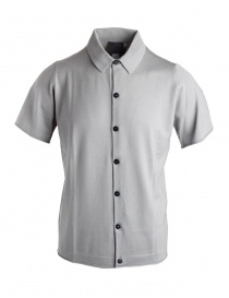 Mens t shirts online: Goes Botanical grey polo shirt with buttons