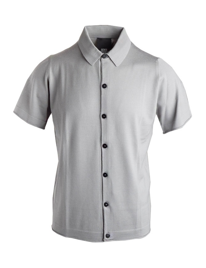 Goes Botanical grey polo shirt with buttons 106 449 GRIGIO mens t shirts online shopping