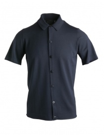 Mens t shirts online: Goes Botanical blue polo shirt with buttons