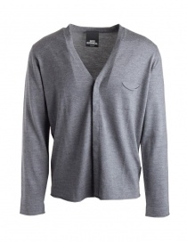 Mens cardigans online: Goes Botanical grey cardigan with pocket