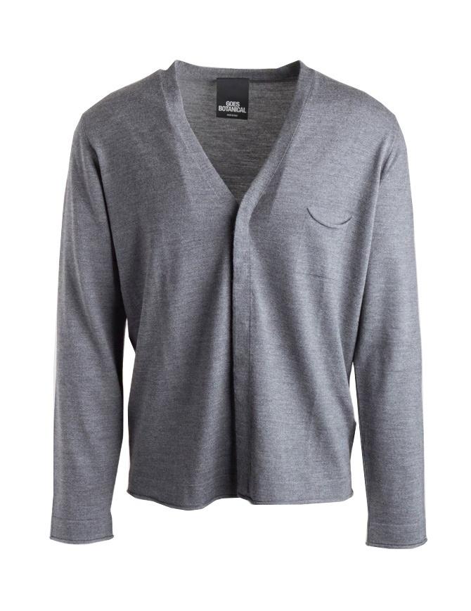 Cardigan Goes Botanical grigio con taschino 115/1001 GRIGIO MEDIO cardigan uomo online shopping