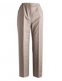 Womens trousers online: Women's trousers Cellar Door in beige houndstooth