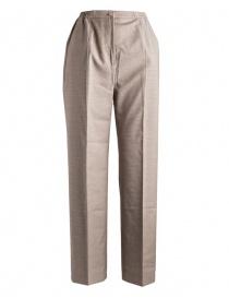 Pantaloni da donna Cellar Door pied de poule beige PENDLE B252 COL.7
