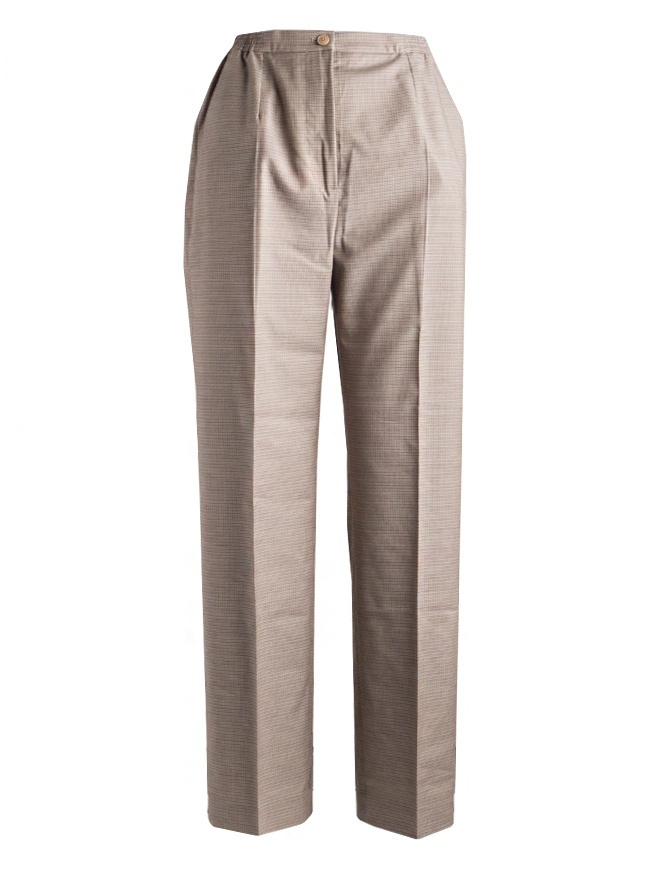 Women's trousers Cellar Door in beige houndstooth PENDLE B252 COL.7 womens trousers online shopping