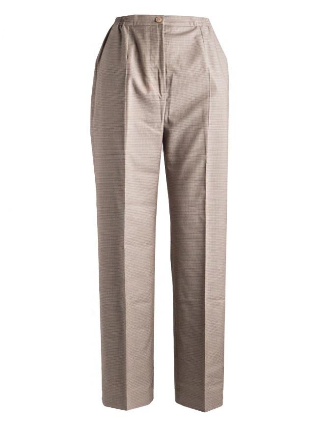 Pantaloni da donna Cellar Door pied de poule beige PENDLE B252 COL.7 pantaloni donna online shopping