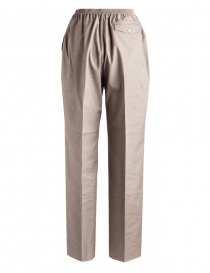 Women's trousers Cellar Door in beige houndstooth