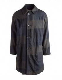 Sage de Cret blue and green coat in wool 31-80-9353