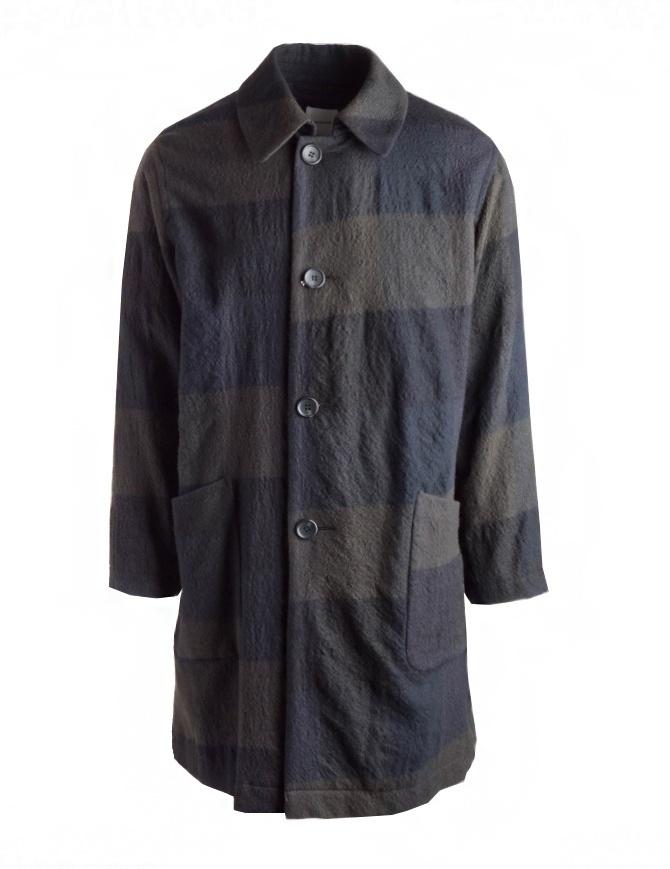 Cappotto Sage de Cret colore blu e verde in lana 31-80-9353 cappotti uomo online shopping