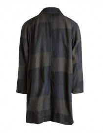 Cappotto Sage de Cret colore blu e verde in lana acquista online