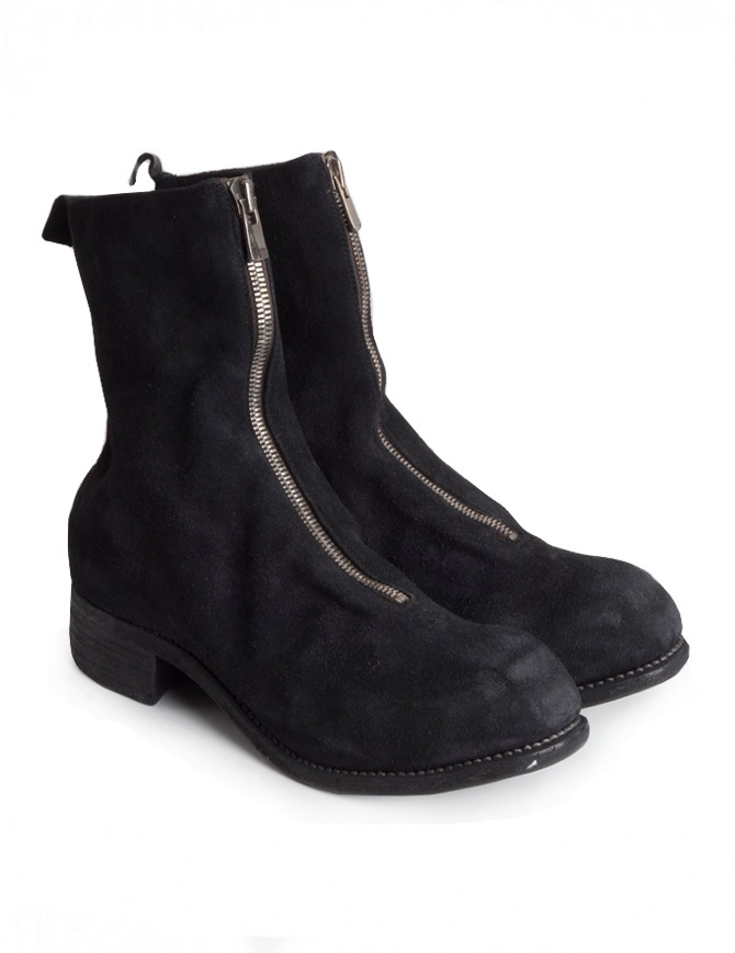 Guidi PL2 horse reverse leather ankle boots PL2 HORSE REVERSE LINED BLKT mens shoes online shopping
