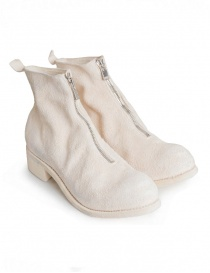 Guidi PL1 white horse reverse leather ankle boots PL1 HORSE REVERSE LINED CO00T
