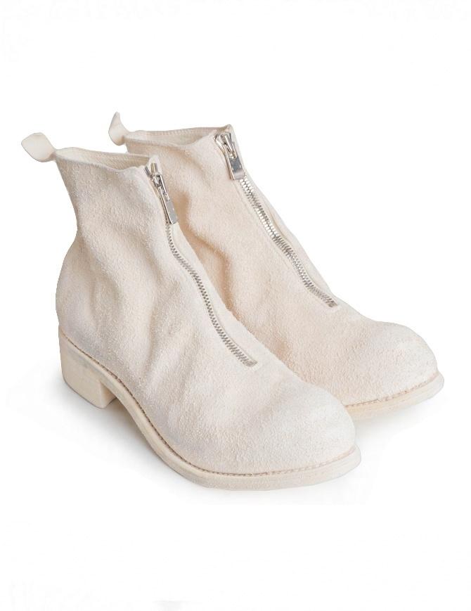 Stivaletto Guidi PL1 in pelle di cavallo rovesciata bianca PL1 HORSE REVERSE LINED CO00T calzature uomo online shopping