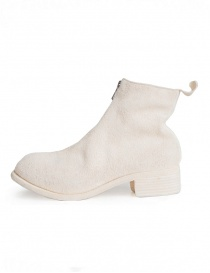 Guidi PL1 white horse reverse leather ankle boots
