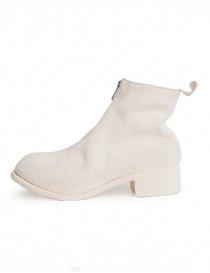 Stivaletto Guidi PL1 in pelle di cavallo rovesciata bianca acquista online
