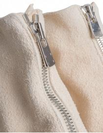 Stivaletto Guidi PL1 in pelle di cavallo rovesciata bianca acquista online prezzo