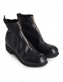 Mens shoes online: Guidi PL1 black horse leather ankle boots