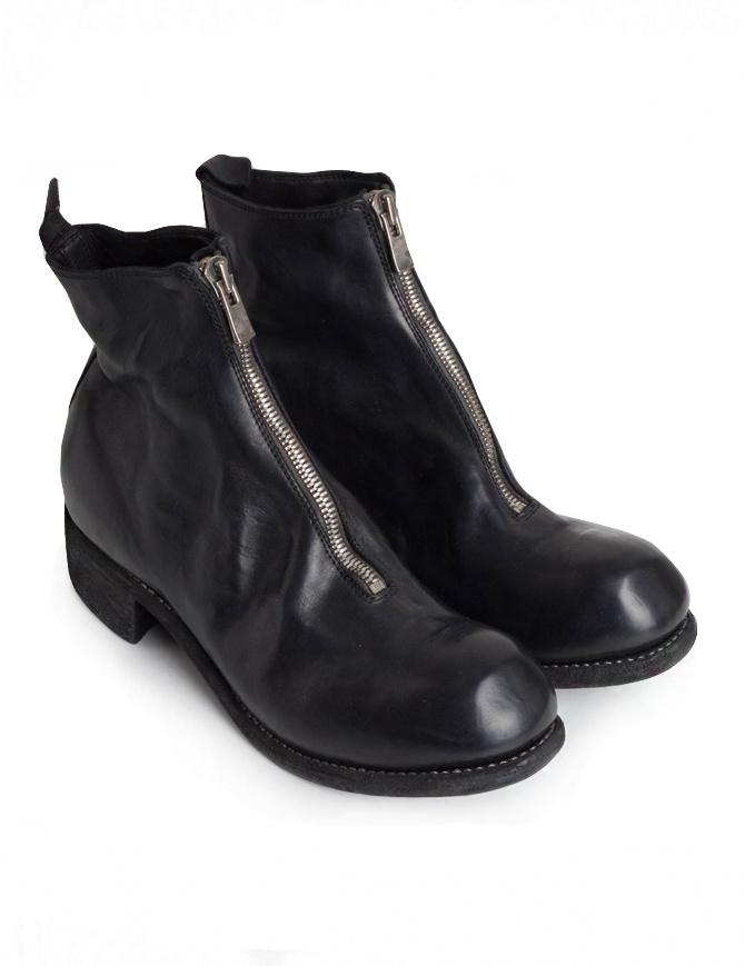 Guidi PL1 stivaletto nero in pelle di cavallo PL1 HORSE F.G.LINED BLKT calzature uomo online shopping