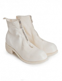 Womens shoes online: Guidi PL1 white horse leather ankle boots