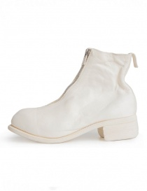 Guidi PL1 white horse leather ankle boots
