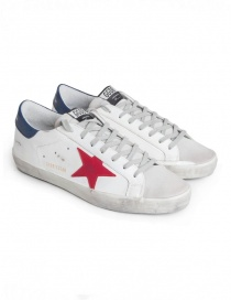 Golden Goose Superstar sneakers with red star G34MS590.N13 WHITE/RED STAR order online