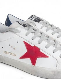 Sneakers Golden Goose Superstar stella rossa calzature uomo prezzo