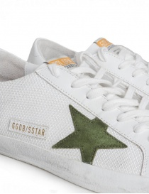 Golden Goose Superstar in mesh sneakers with green star mens shoes price