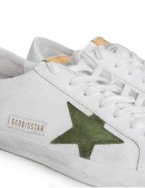 Sneakers Golden Goose Superstar in rete con stella verde calzature uomo prezzo