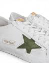 Sneakers Golden Goose Superstar in rete con stella verde prezzo G34MS590.N20 WHT CORD/GREEN STshop online