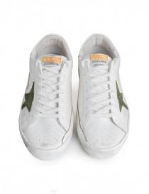 Golden Goose Superstar in mesh sneakers with green star mens shoes buy online
