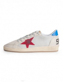 Golden Goose Ballstar sneakers in technical mesh with red star