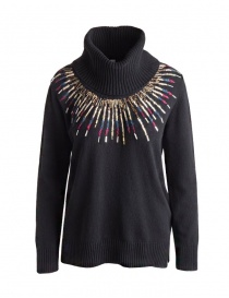 Womens knitwear online: Yasmin Naqvi sweater in wool with strass